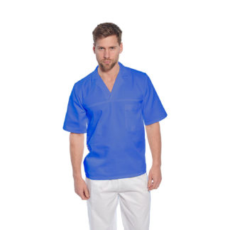 Baker Shirt, Short Sleeves (Royal Blue)