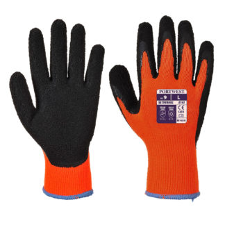 Thermal Soft Grip Gloves (Orange)
