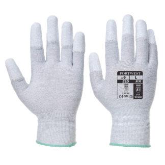 Antistatic PU Fingertip Gloves (Grey)