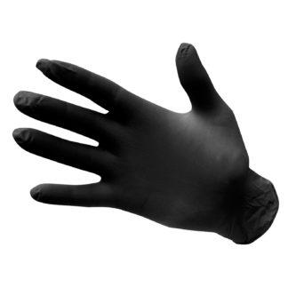 Powder Free Nitrile Disposable Gloves (Black)