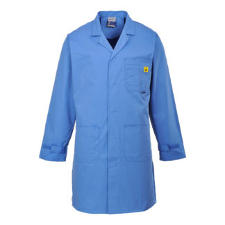 Anti-Static ESD Coat (Hospital Blue)
