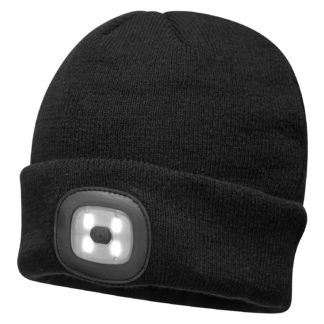 Beanie LED Head Light USB Rechargeable (Black)