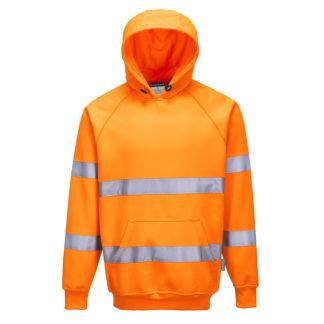Hi-Vis Hooded Sweatshirt (Orange)