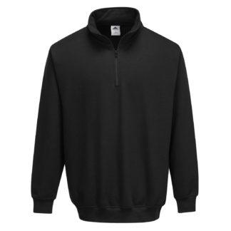 Sorrento Zip Neck Sweatshirt (Black)