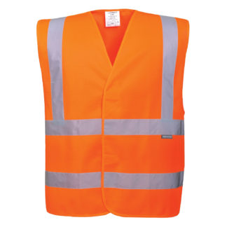 Hi-Vis Two Band & Brace Vest (Orange)