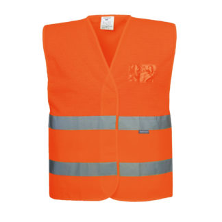 Hi-Vis Half Mesh Vest (Orange)
