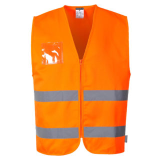 Hi-Vis Polycotton Vest (Orange)