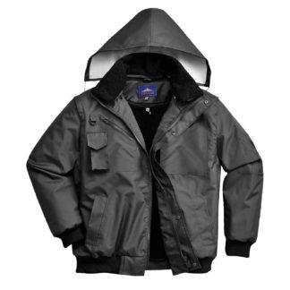 3-in-1 Bomber Jacket (Black)