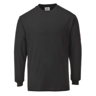 Flame Resistant Anti-Static Long Sleeve T-Shirt (Black)