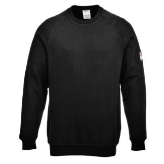 Flame Resistant Anti-Static Long Sleeve Sweatshirt (Black)