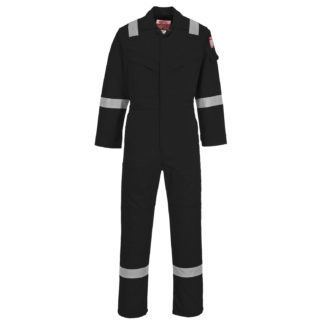 Flame Resistant Light Weight Anti-Static Coverall 280g (Black)