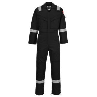 Flame Resistant Anti-Static Coverall 350g (Black)