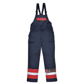 Bizflame Plus Bib and Brace (Navy/Red)