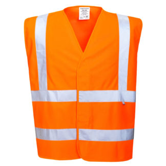 Hi-Vis Anti Static Vest - Flame Resistant (Orange)