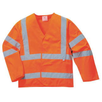 Hi-Vis Anti Static Jacket - Flame Resistant (Orange)