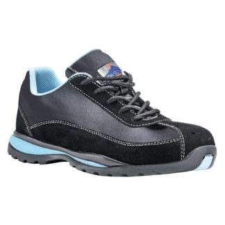 Steelite Ladies Safety Trainers S1P HRO (Black/Blue)