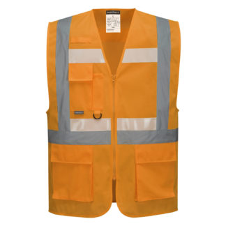 Glowtex Ezee Zip Executive Vest (Orange)