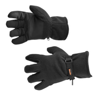 Fleece Gloves Insulatex Lined (Black)