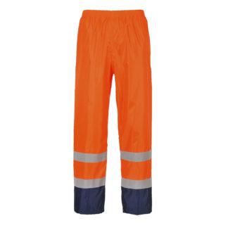 Hi-Vis Classic Contrast Rain Trousers (Orange/Navy)