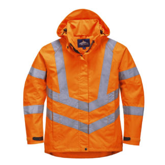 Ladies Hi-Vis Breathable Jacket (Orange)