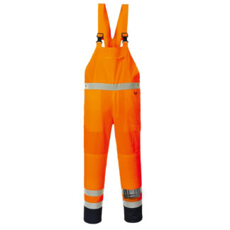 Hi-Vis Contrast Bib and Brace - Unlined (Orange)