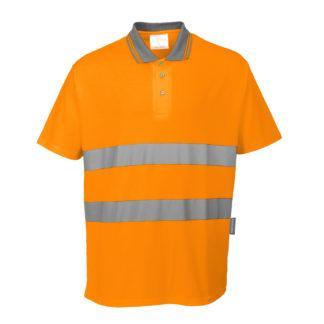 Cotton Comfort Polo (Orange)