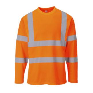 Hi-Vis Long Sleeved T-shirt (Orange)