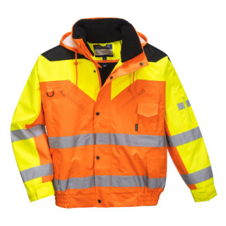 Contrast Plus Bomber Jacket (Orange)