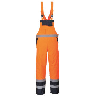 Contrast Bib and Brace - Lined (Orange/Navy)