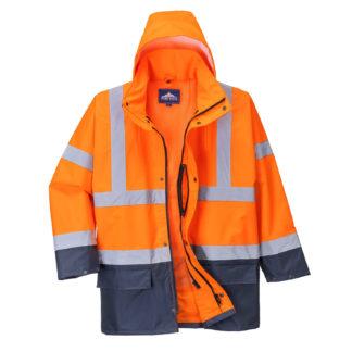 Essential 5-in-1 Jacket (Orange/Navy)