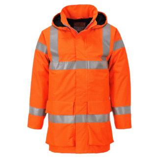 Bizflame Rain Hi-Vis Multi Lite Jacket (Orange)