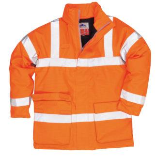 Bizflame Rain Hi-Vis Antistatic FR Jacket (Orange)
