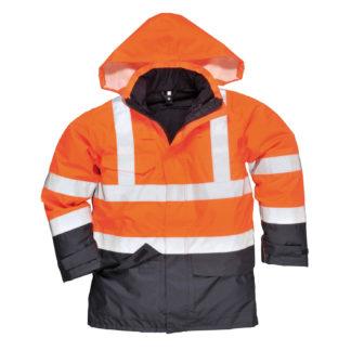 Bizflame Rain Hi-Vis Multi-Protection Jacket (Orange/Navy)