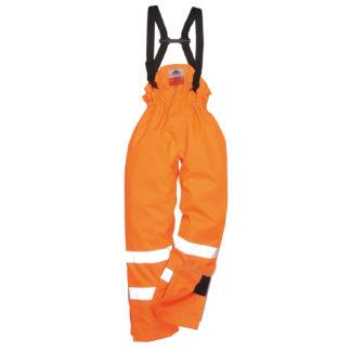 Bizflame Rain Unlined - Hi-Vis Antistatic FR Trousers (Orange)