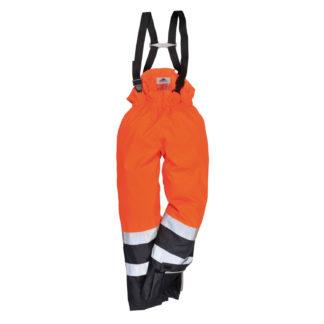Bizflame Rain Hi-Vis Multi-Protection Trousers (Orange/Navy)