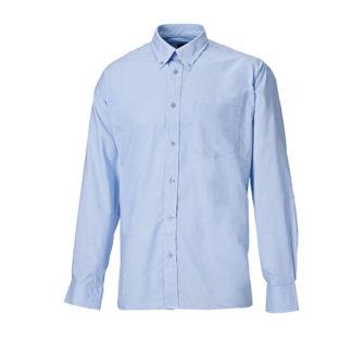 Dickies Oxford Weave Long Sleeved Shirt (Blue)