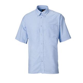 Dickies Oxford Weave Short Sleeved Shirt (Blue)