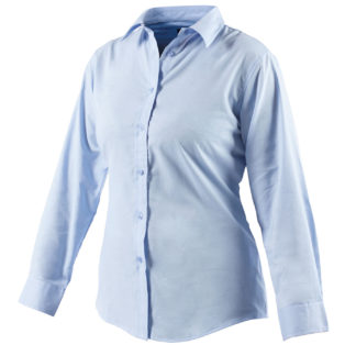 Dickies Womens Oxford Weave Long Sleeved Shirt (Blue)