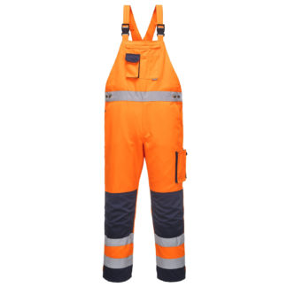 Dijon Hi-Vis Bib and Brace (Orange/Navy)