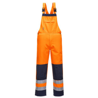 Girona Hi-Vis Bib and Brace (Orange/Navy)
