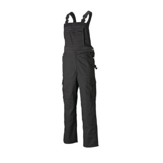 Dickies Industry Two Tone Bib and Brace (Black)