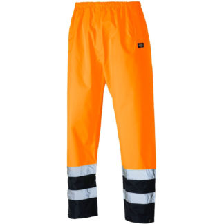 Dickies High Visibility Two Tone Trousers (Orange)