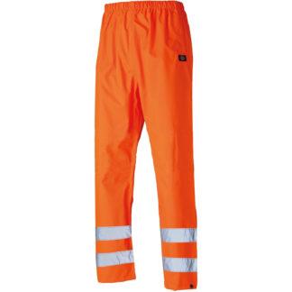 Dickies Waterproof Hi-Vis Safety Trousers (Orange)