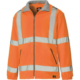 Dickies High Visibility Lined Fleece Jacket (Orange)