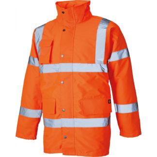 Dickies Hi-Vis Motorway Safety Jacket (Orange)