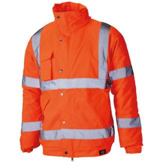 Dickies High Visibility Bomber Jacket (Orange)