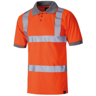 Dickies High Visibility Safety Polo Shirt (Orange)