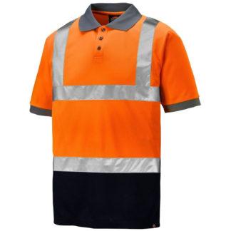 Dickies Two Tone Hi-Vis Taped Polo Shirt (Orange)