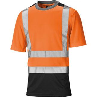 Dickies Two Tone Hi Vis T-Shirt (Orange)