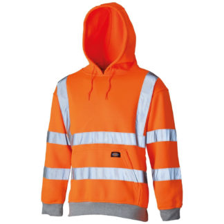 Dickies High Visibility Safety Hooded Sweatshirt (Orange)